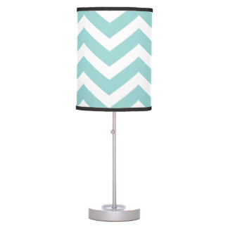Aqua Chevron Lamp