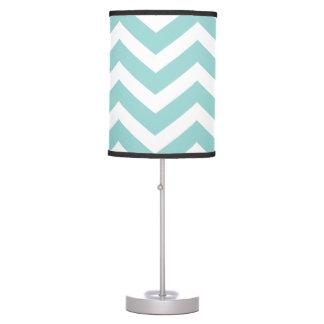 Aqua Chevron Lamp