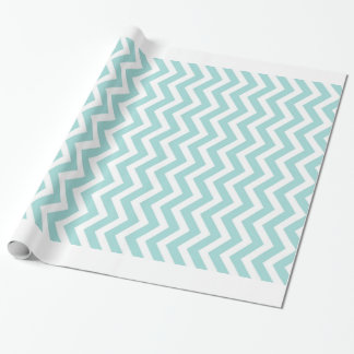 Aqua  chevron pattern wrapping paper