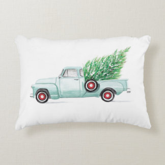Aqua Chevy Pillow