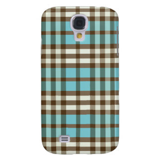 Aqua/Chocolate Plaid Pern