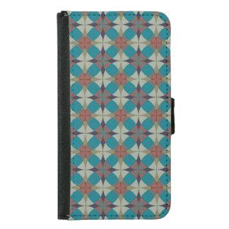 Aqua Circles Pattern Wallet Case