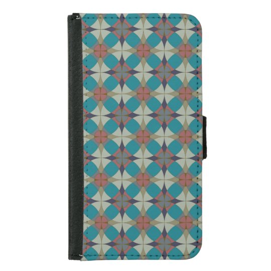 Aqua Circles Pattern Wallet Case