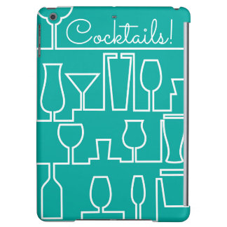 Aqua cocktail party iPad air covers