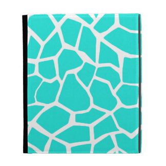 Aqua Color Giraffe Animal Print iPad Cases