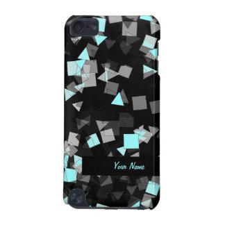 Aqua Confetti Custom Name iPod Touch (5th Generation) Cases