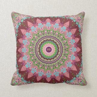 Aqua Coral Beauty Mandala Pillow