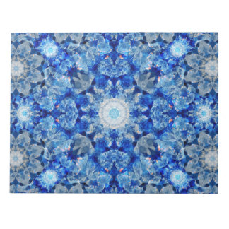 Aqua Crystal Mandala Notepad