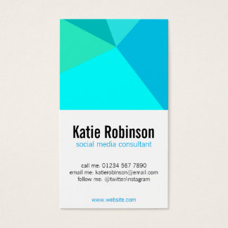 Aqua crystal minimalist modern business card