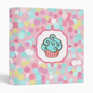 Aqua Cupcake Binder