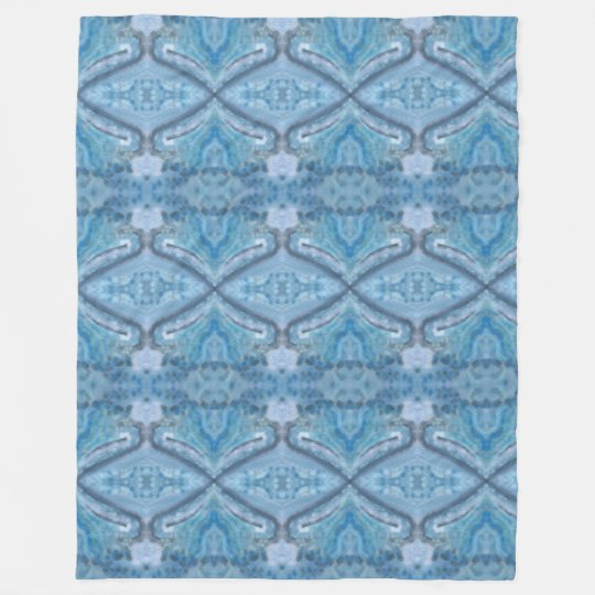 """Aqua"" Custom Fleece Blanket, Large"