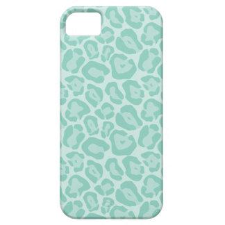 Aqua Cute Girly Animal Print iPhone 5 Case