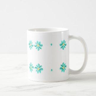 Aqua Daisies Coffee Mug