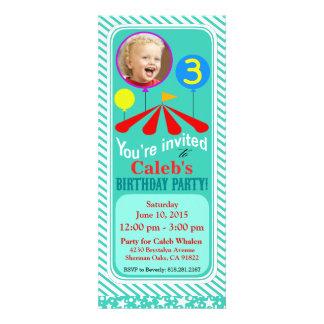 Aqua de la fête d'anniversaire d'amusement de phot invitations