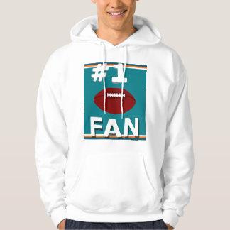 Aqua de passioné du football #1 et sweatshirt