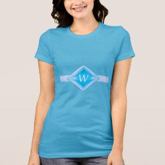 Aqua Diamond Custom Monogram T-Shirt