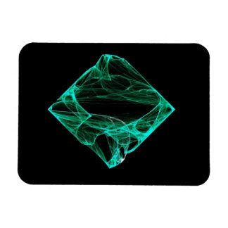 Aqua Diamond Vinyl Magnet