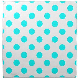 AQUA-DOTS! (a polka dot design) ~ Cloth Napkins