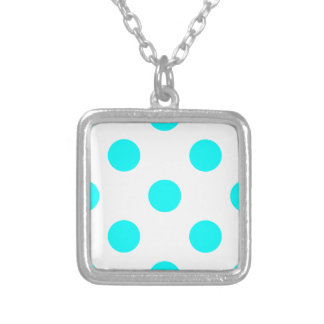AQUA-DOTS! (a polka dot design) ~ Personalized Necklace