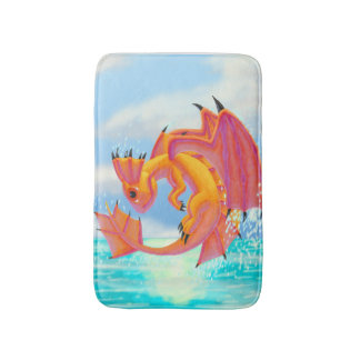 Aqua Dragon Bath Mat