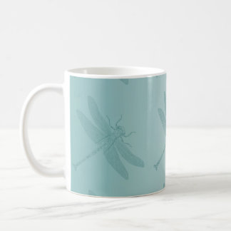 Aqua Dragonfly Coffee Mug