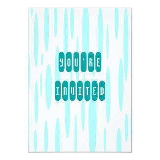 "Aqua Dreads 5"" X 7"" Invitation Card"