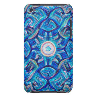 Aqua Dream Mandala Barely There iPod Cases
