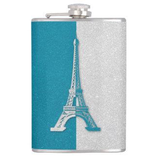 Aqua Eiffel Tower | Cool Gifts Hip Flask