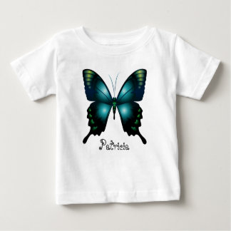Aqua  Elegant Whimsical  Butterfly Baby T-Shirt