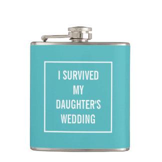 Aqua et blanc du mariage de la fille survécue flasques