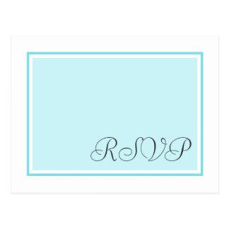 Aqua et Teal épousant des cartes postales de RSVP