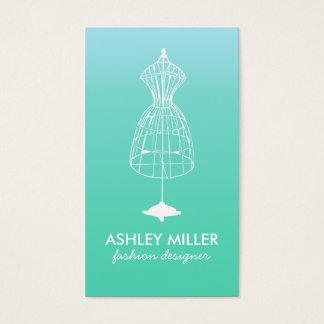 Aqua Fashion Designer Dress Form Business Card