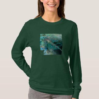 Aqua Fish Graphic Design T-Shirt