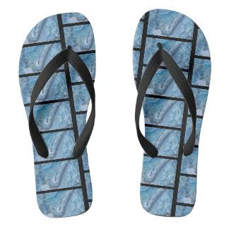 Aqua Flip Flops Summer Sandals