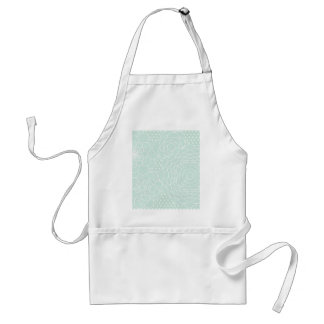 Aqua Floral Design Modern Abstract Flowers Standard Apron