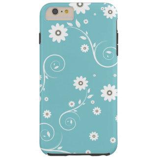 Aqua Floral iPhone 6/6s Plus Case