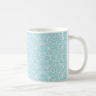 Aqua Floral Wedding Mug or Cup Wedding Gift