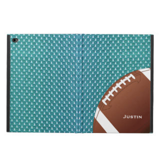 Aqua Football iPad Air 2 Case with Stand