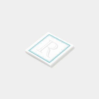 Aqua Frame Initial Post-it® Notes