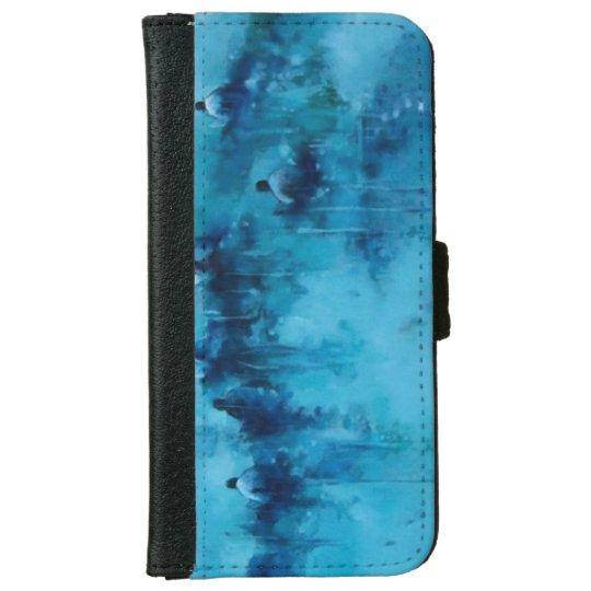 Aqua Funda portfolio iphone iPhone 6 Wallet Case