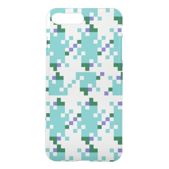 Aqua Geometric iPhone 7 Plus Case
