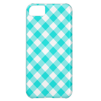 Aqua Gingham iPhone 5C Cover