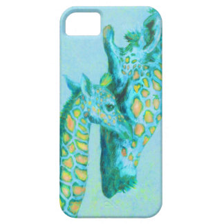 aqua giraffes iphone case