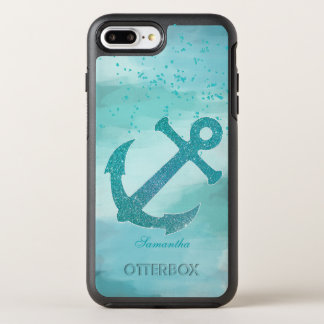 Aqua Glitter Anchor OtterBox Symmetry iPhone 8 Plus/7 Plus Case
