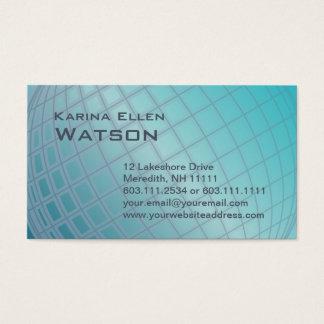 Aqua Globe International Woman Elegant Executive Business Card