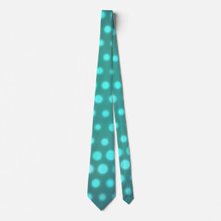 Aqua glow blue dots tie