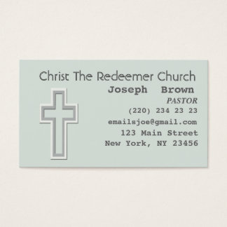 Aqua Graphic Christian Cross Religion Missionary Business Card