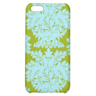 Aqua Green Damask i Case For iPhone 5C
