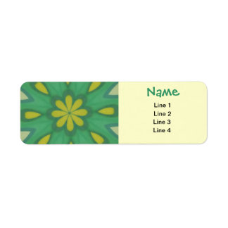 Aqua Green Mandala Labels