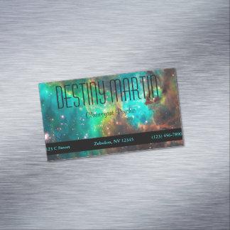 Aqua Green Metaphysical Magnetic Business Card